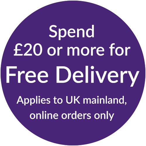 Spend more than £20 for Free Delivery