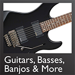 Guitars, Basses, Banjos & More - Click here...