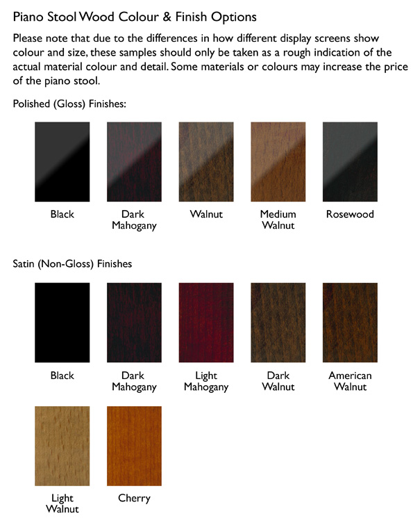 Wood finishes: