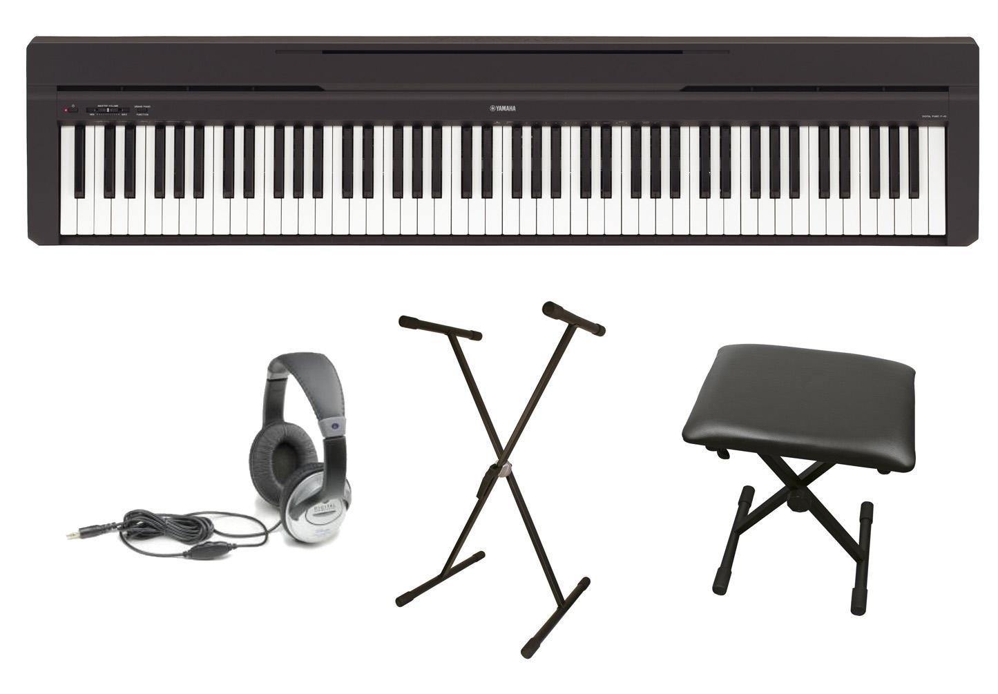 Yamaha P-45 Portable Piano Pack With P-45 Piano ...