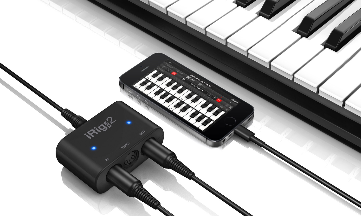 iRig MIDI 2 Interface for iOS Mac and PC - Lightning to USB cable Universal  MIDI interface for iPhone, iPad, iPod touch, Android and Mac/PC