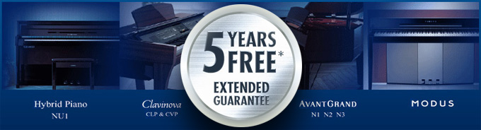 Extended Warranty on Selected Digital pianos