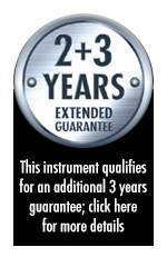 2 + 3 Years Extended Guarantee - this instrument qualifies for an additional 3 years guarantee when bought before 31st March 2014; click here for more details