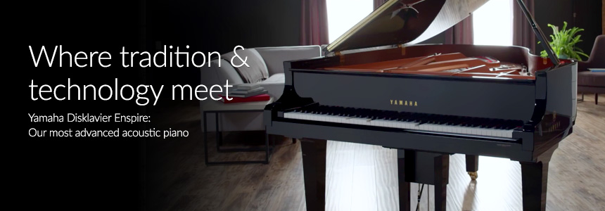 Where tradition & technology meet: Yamaha Disklavier Enspire, Our most advanced acoustic piano