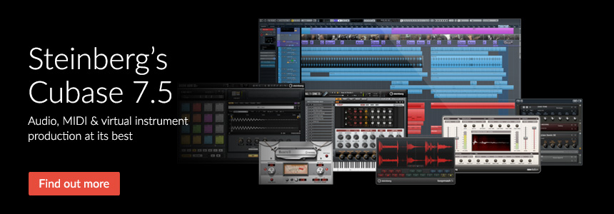 Steinberg's Cubase 7.5 - Audio, MIDI and virtual instrument production at its best