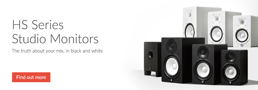 HS Series Studio Monitor Speakers - The truth about your mix, in black and white