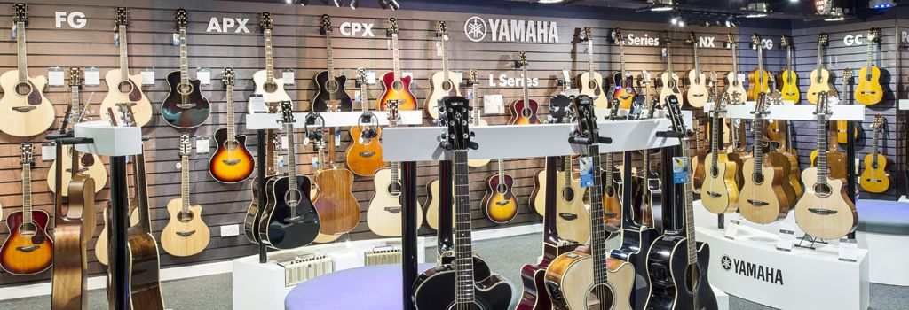 The largest range of Yamaha guitars in Europe