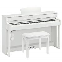 CLP-635 Deluxe Clavinova Piano Pack in White Finish