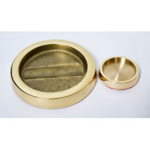 Piano Caster Cup, Brass