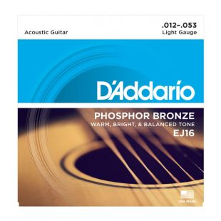 EJ16 Phosphor Bronze Light Acoustic Strings