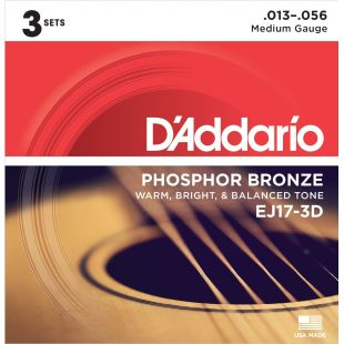 EJ17 Phosphor Bronze, Medium, 13-56 (3 sets)