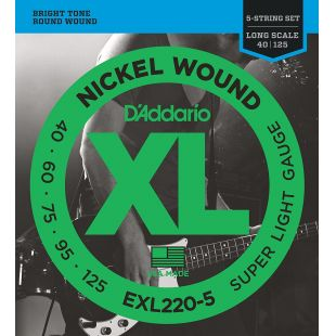 EXL220-5 Nickel Wound 5-String Bass guitar strings