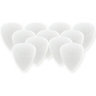 44P.38 Nylon Standard Players Pack Plectrums, .38mm