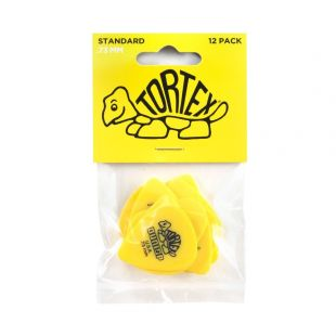 Tortex Standard Player Pack of 12 Guitar Picks (Plectrums), 0.73mm (Yellow)