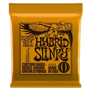 EB 2222 Hybrid Slinky Electric Guitar Strings 9-46