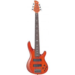 TRB-1006J 6-String Bass Guitar - Caramel Brown