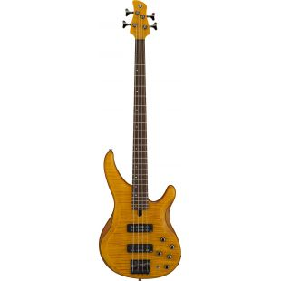 TRBX604FM 4-String Electric Bass Guitar In Matte Amber Finish