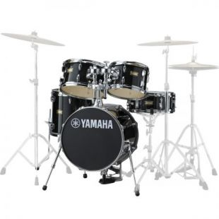 JJK6F5RB Manu Katché Junior Drum Shell Kit in Raven Black Finish