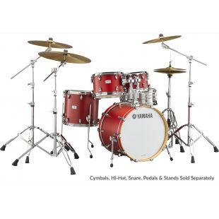 "Tour Custom Drum Shell Set with 22"" Kick Drum in Candy Apple Satin finish"