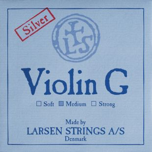 Original 'G' String For Violin, Medium Tension, Ball End, Silver-Wound