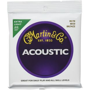 M170 Acoustic Guitar Strings, Extra-Light 80/20 Bronze