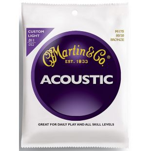 M175 Acoustic Guitar Strings, Custom-Light 80/20 Bronze