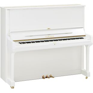 YUS3 Upright Piano in Polished White Finish