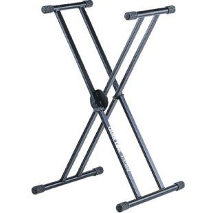QL-646 Double Braced Single Tier Keyboard X Stand