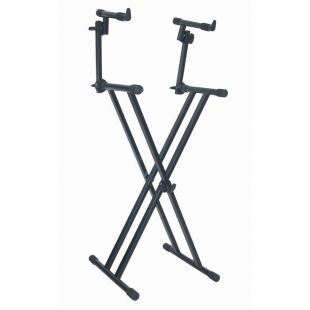 T-22 Double Braced Double Tier Keyboard Stand