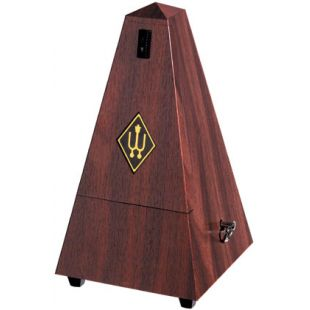 2181 Pyramid Metronome in Plastic Casing, Mahogany Finish