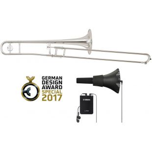 Silent Trombone Pack YSL-354SE Silver plated Bb Tenor Trombone with SB5X Silent Brass System