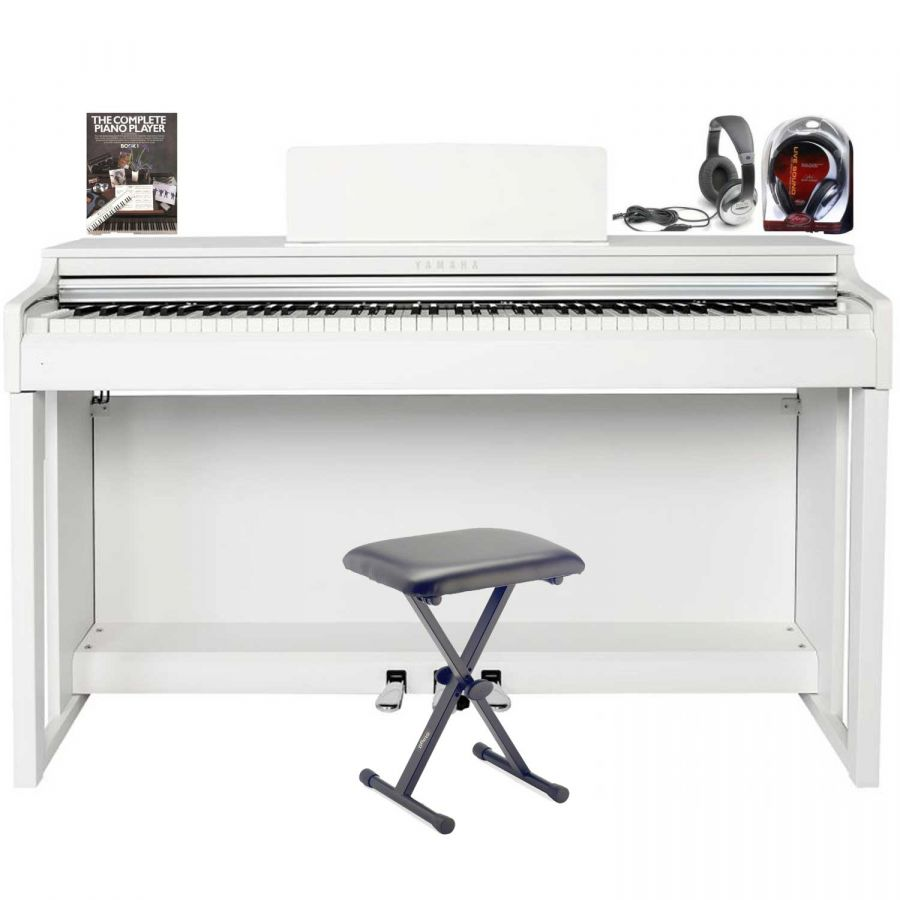 CLP-525 White Clavinova Package