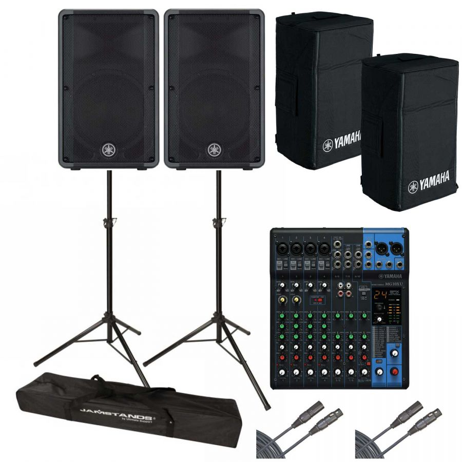 Yamaha drb10 mg10xu active pa system package with 10 for Yamaha pa system