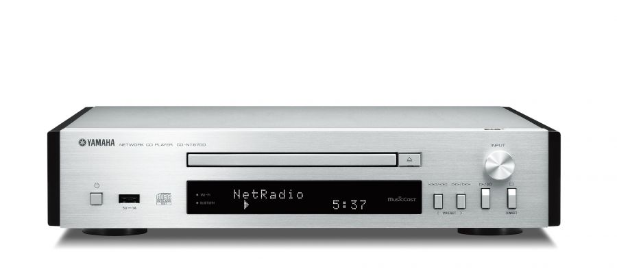 CD-NT670D MusicCast Music Player in Brushed Silver