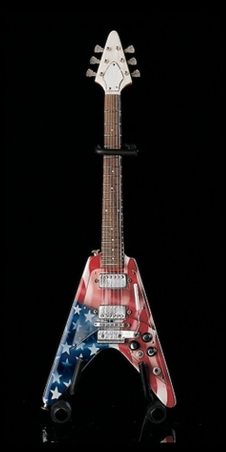 US Flag Gibson Flying V Model