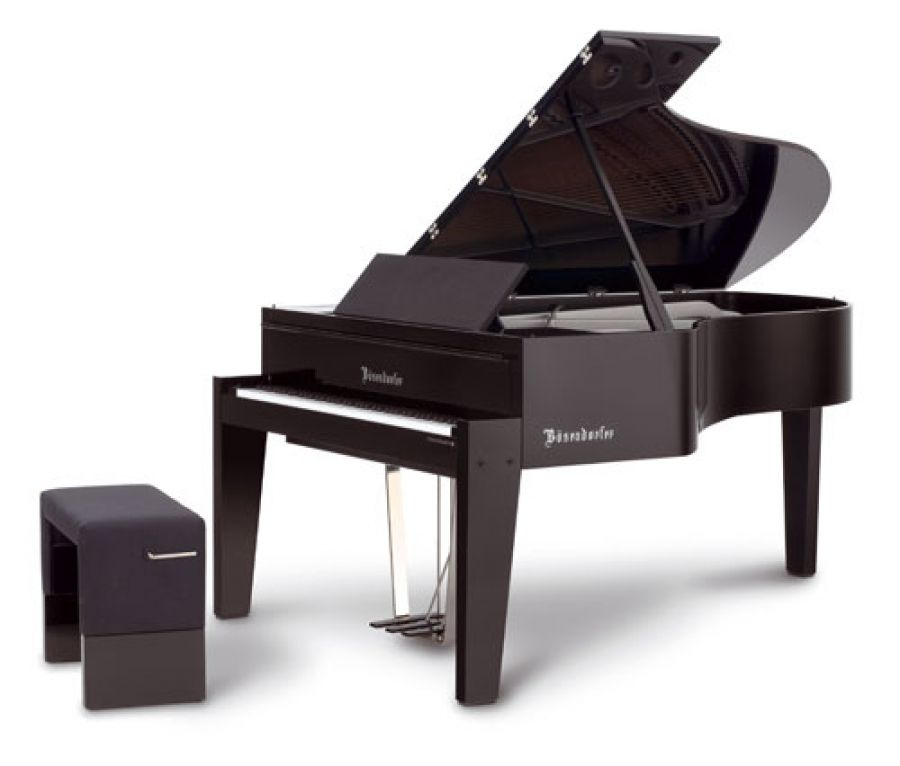 B sendorfer edge design model 185 in polished ebony for Piano diviso