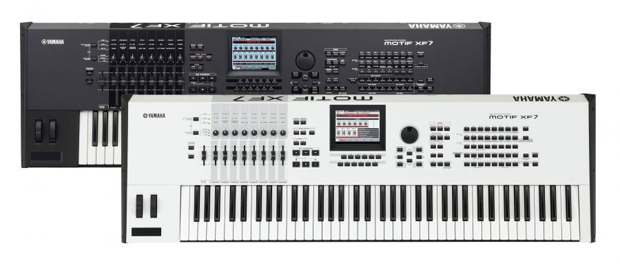 Motif XF7 Workstation Synthesizer Class-leading Expandable Workstation  Synth In Black Or White Finish