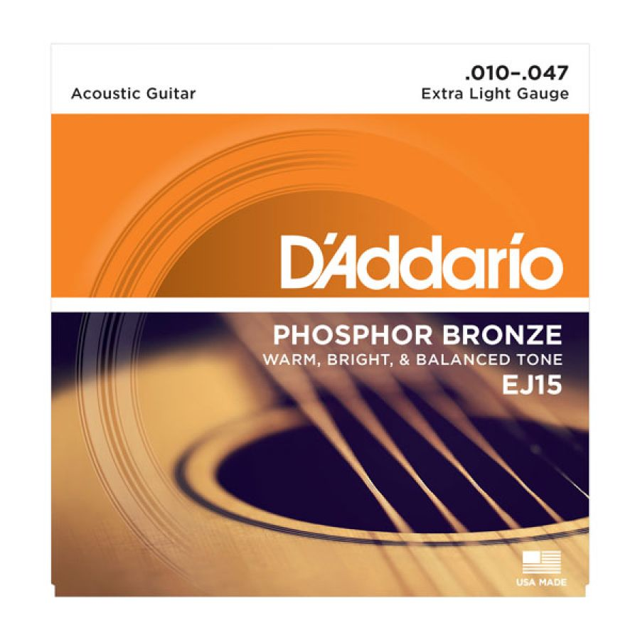 EJ15 Phosphor Bronze Extra Light Acoustic Strings