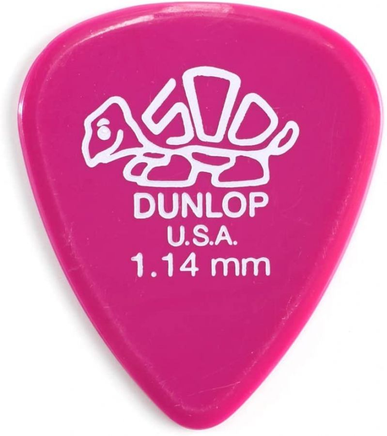Delrin Guitar Plectrum Player Pack of 12, 1.14mm