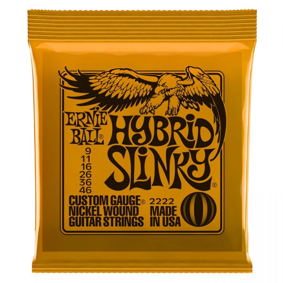 EB2222 Hybrid Slinky Electric Guitar Strings 9-46
