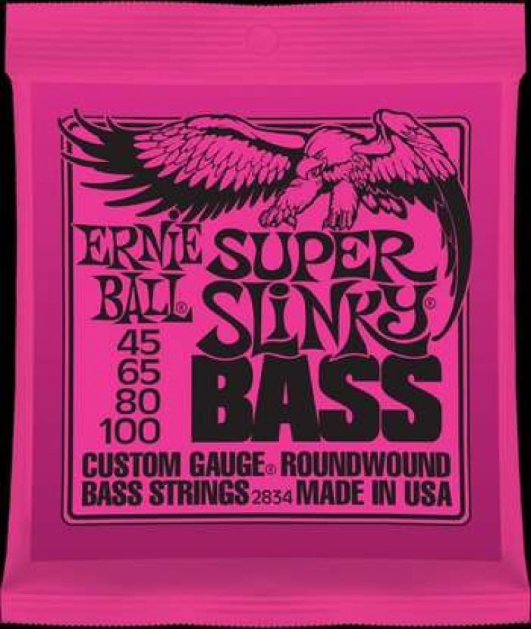 Super Slinky Electric Bass Strings 45-100