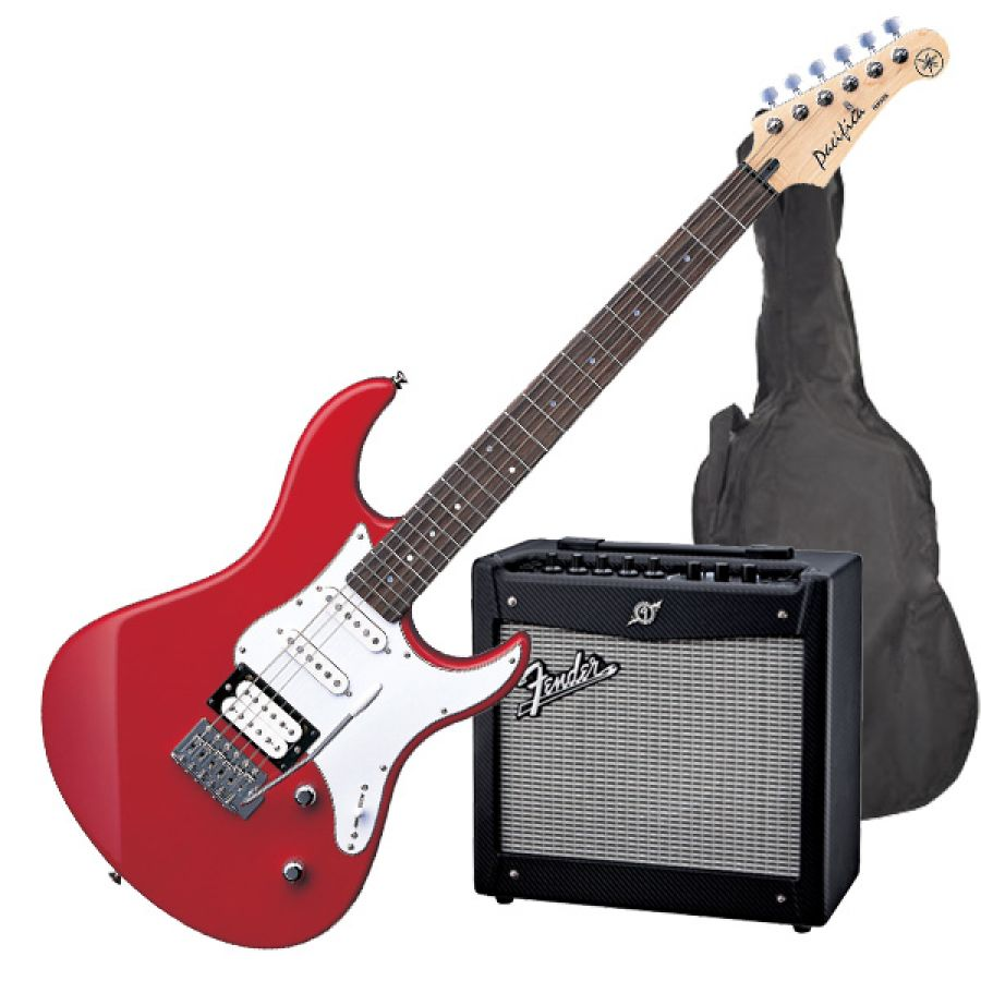 yamaha fender pacifica 112v electric guitar starter pack raspberry red electric guitar with. Black Bedroom Furniture Sets. Home Design Ideas