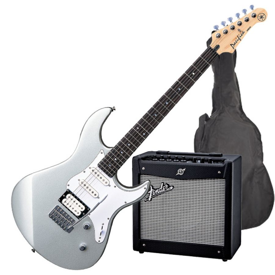 yamaha fender pacifica 112v electric guitar starter pack silver electric guitar with fender. Black Bedroom Furniture Sets. Home Design Ideas