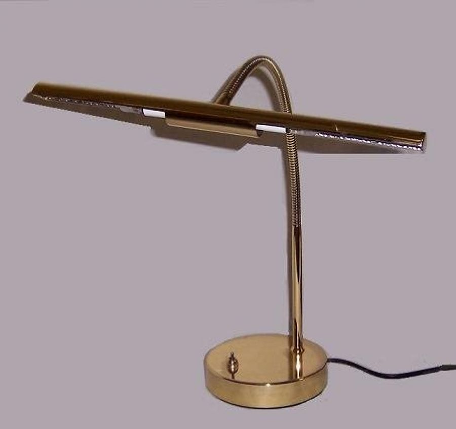 N800A Piano Lamp in Polished Brass