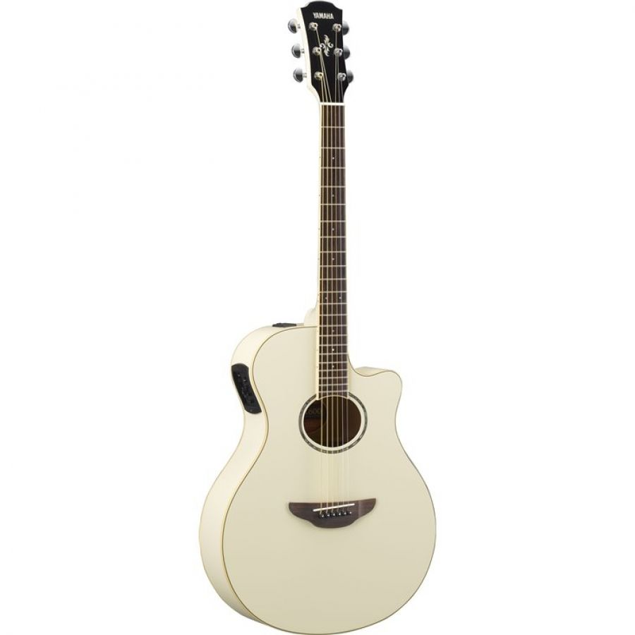 APX600 Electro-Acoustic Guitar In Vintage White Finish