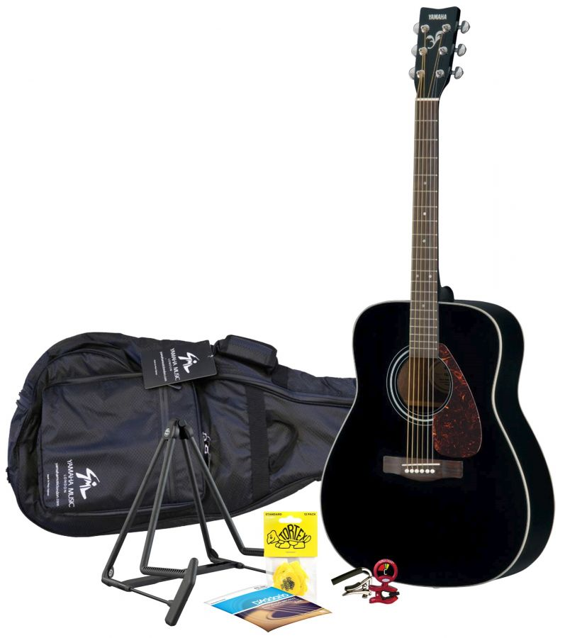F370 Black Acoustic Guitar Package