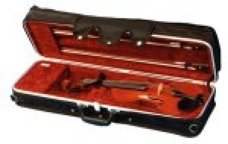 Black Rectangular Violin Case