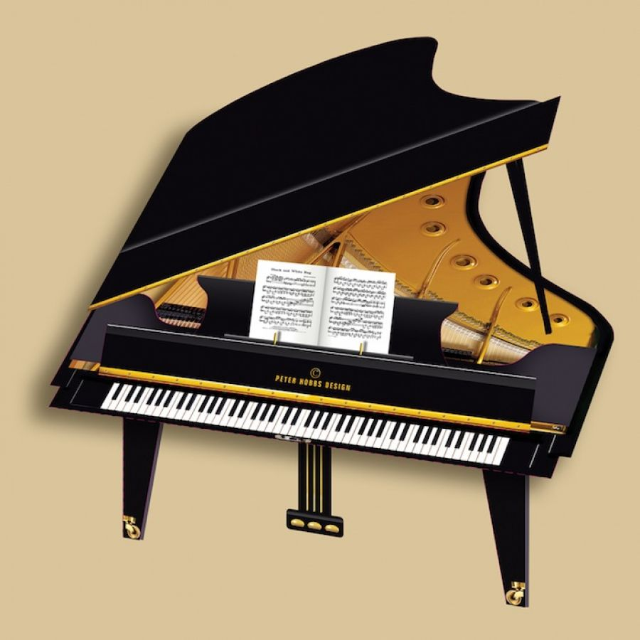 Baby Grand Piano 3D Greetings Card