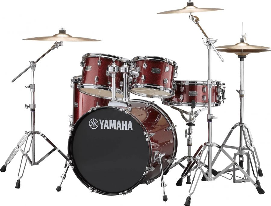 "Rydeen Drum Kit With 20"" Kick Drum & Cymbals"