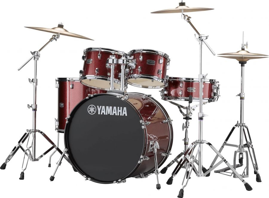 "Rydeen Drum Kit With 22"" Kick Drum & Cymbals"